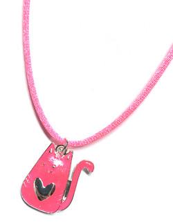 Kitten Heart Necklace