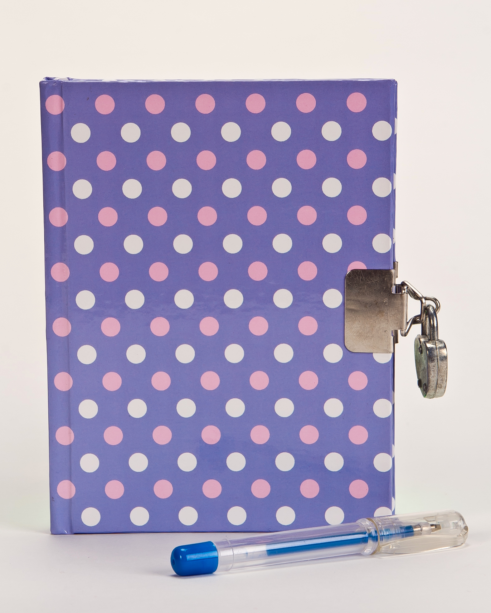 Polka Dot Journal and Pen
