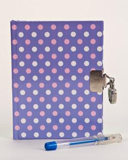 Polka Dot Journal and Pen