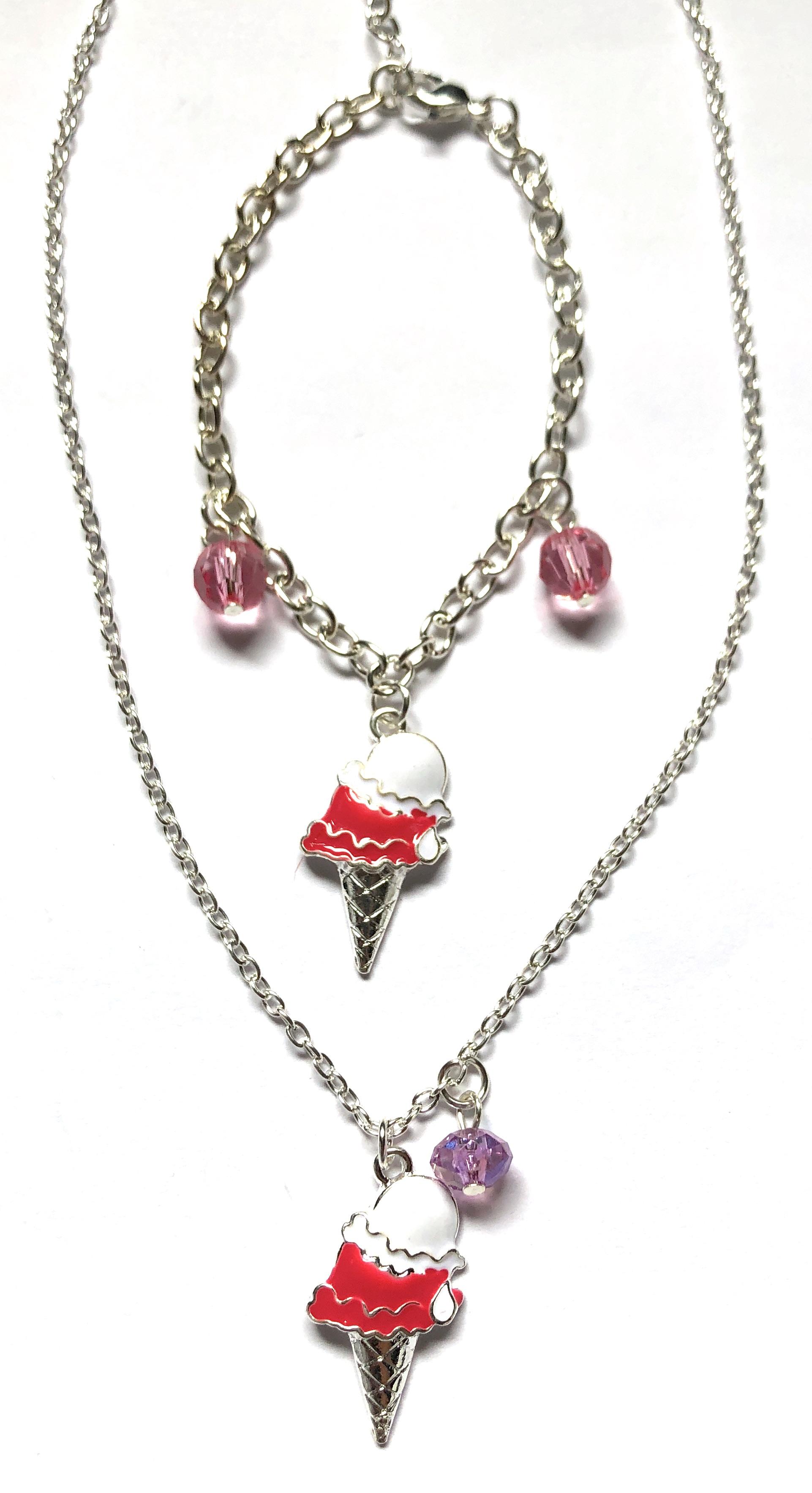 Ice Cream Necklace & Bracelet