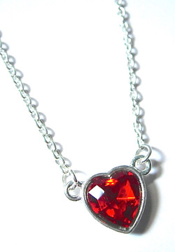 Faceted Heart Necklace