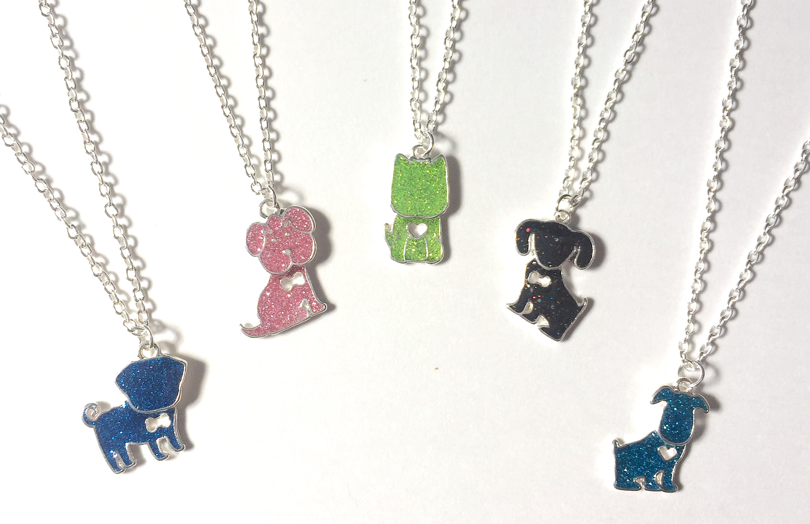 Glitter Dog Necklaces