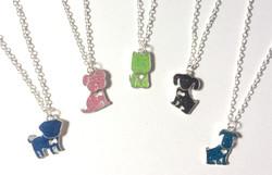 Glitter Dog Necklaces