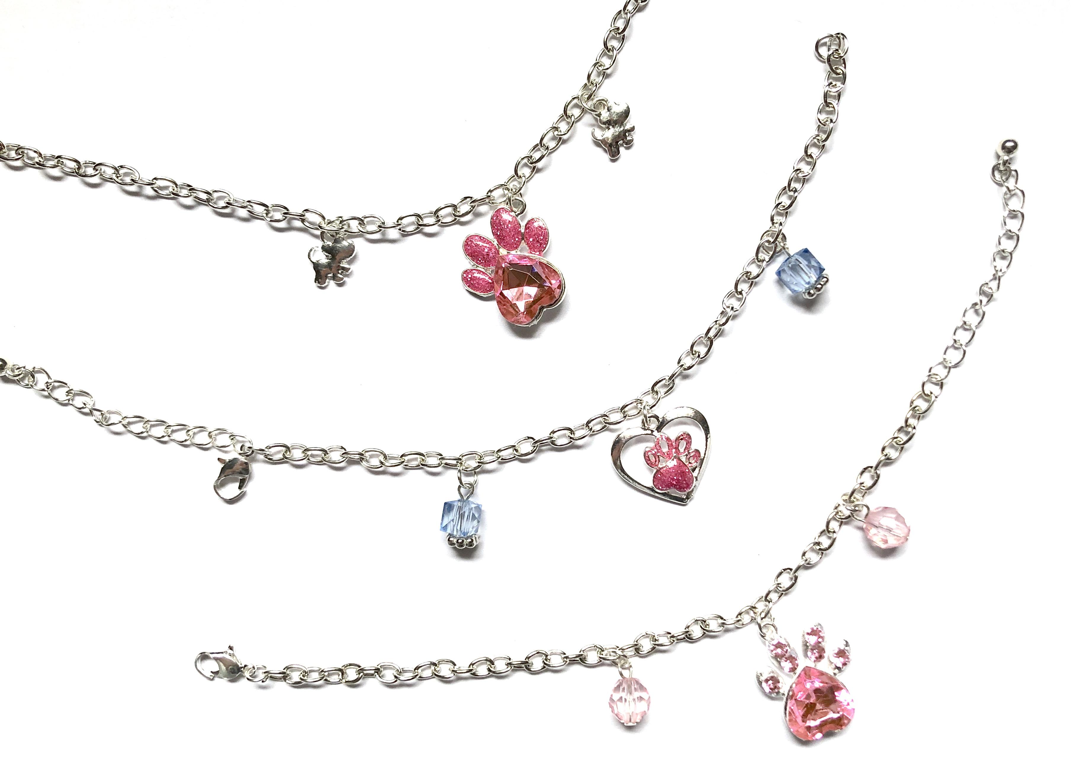 Paw Print Bracelets