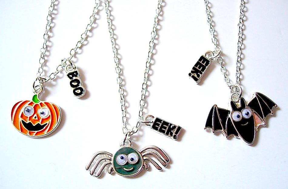 Googly Eye Halloween Necklaces