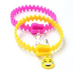 Silicone Zipper Bracelets with Charm