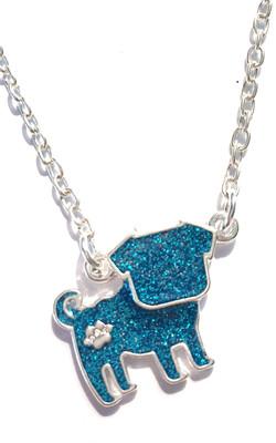 Glitter Puppy Necklace