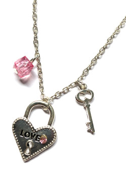 Heart Lock & Key Necklace