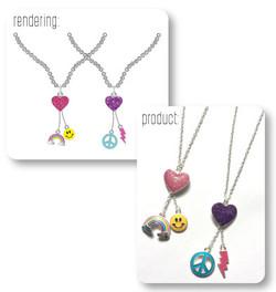 Multi Charm Necklace Renderings