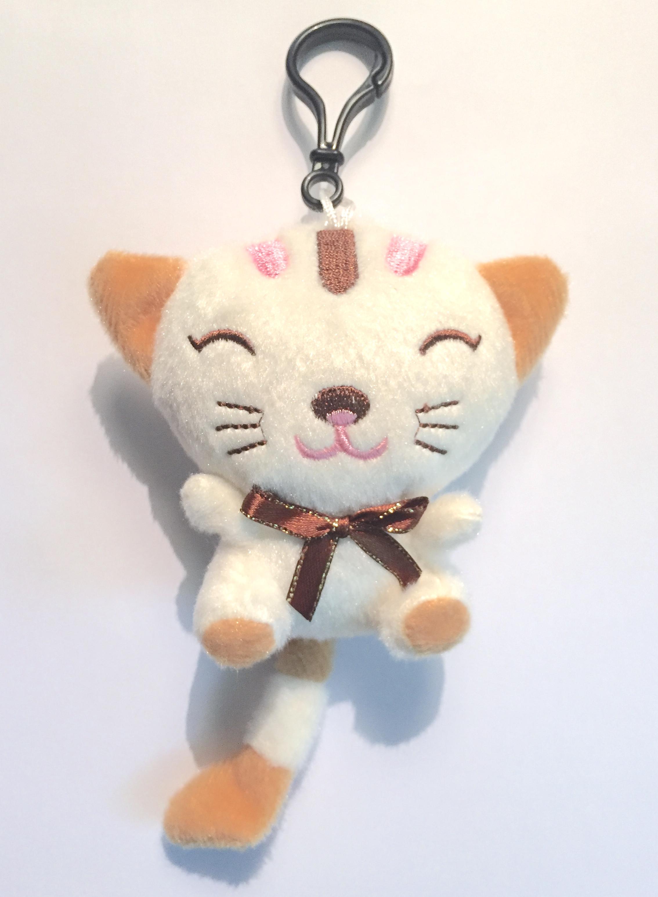 Plush Kitten Backpack Clip