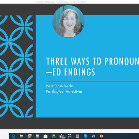 Three Ways to Pronounce -ed Endings