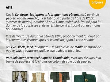 Les origines des vêtements en papier. L'Asie