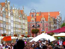 długi targ, stare miasto w Gdańsku,