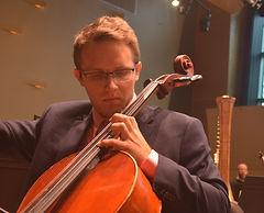 Joshua playing the cello
