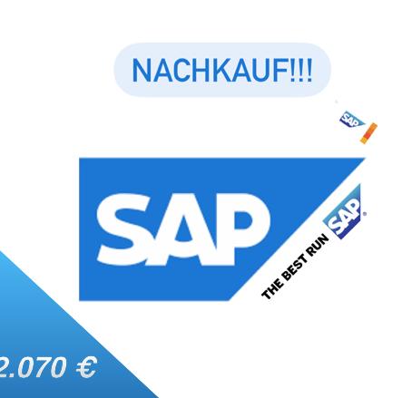 Nachkauf SAP...