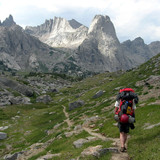 Appoaching the Cirque of the Towers in the Wyomings Wind River Range
