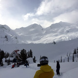 Unloading the heli at the Sorcerer Lodge, BC