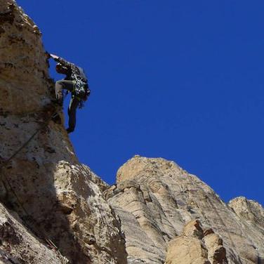 Multipitch rock in Red Rocks