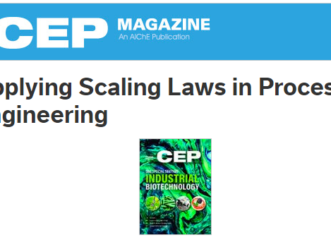 New article in CEP Magazine: Applying Scaling Laws in Process Engineering