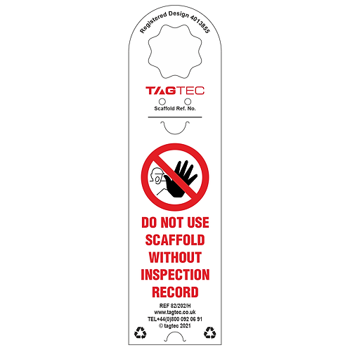 82/202/HP - Scaffolding Saftey Tag Holders