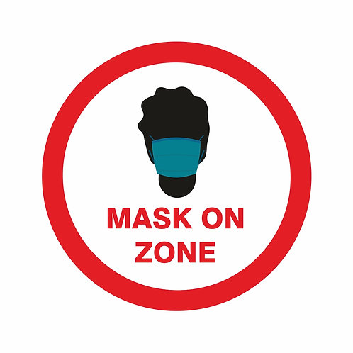 Mask On Zone - Sticker (Window or Surface options)
