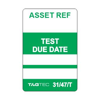 31/47/T - Equipment Test Tags x 50