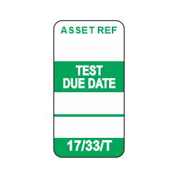 17/33/T - Equipment Test Tag x 50