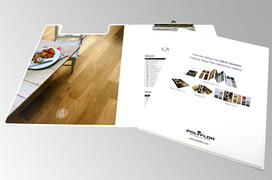 A4 PVC Folding Clipboard