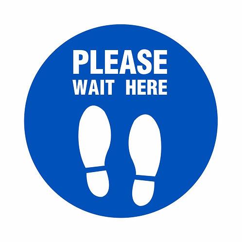 Please Wait Here -  Indoor Floor Vinyl