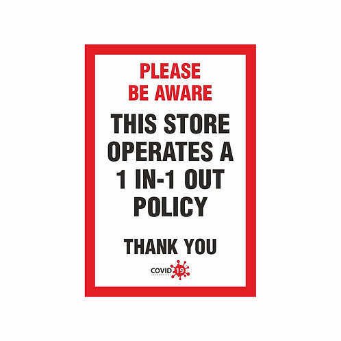 This Store operates A 1 in-1 out policy -  A4 Sticker