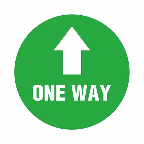 One Way - Indoor Floor Vinyl