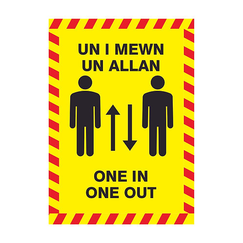 One In Out - Sticker - English & Welsh