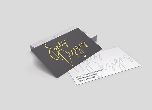 Personalised Business Cards (Silver/Gold Foil)