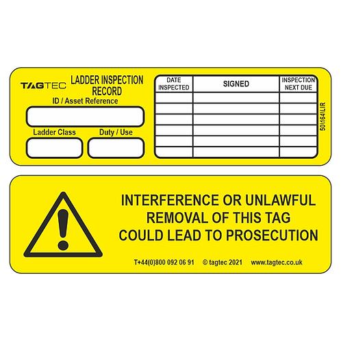 50/164/LIR - Ladder Inspection Tags x 50