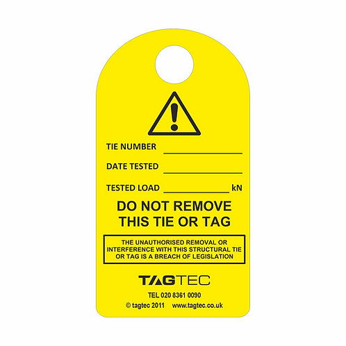 80/150/M2 - Structural Tie Tags x 50