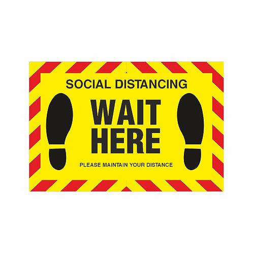 Wait Here - Indoor Floor Vinyl