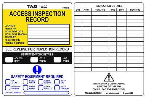 144/194/SI - Access Safety Tags