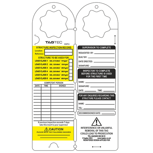 CHIP-S - 'All in one' Scaffolding Tags