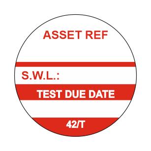 42/T - Equipment Test Tag x 50
