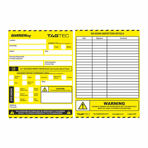 144/194/B - Barrier Tags