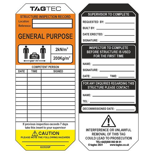 82/202/GP - General Purpose Tags x 50