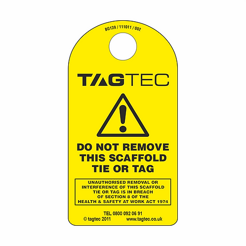 """80/150/M1 - """"Do not remove"""" Tie Tags x 50"""