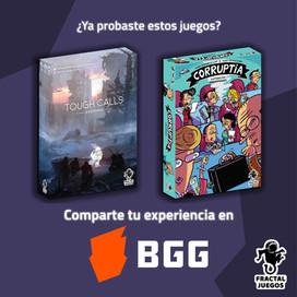 Nuestros juegos en Board Game Geek