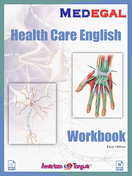 Health Care English Workbook Book cover.