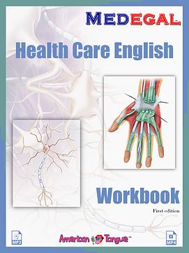 Health Care English Workbook Book cover.