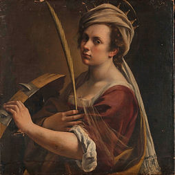 A self-portrait by the Italian Baroque painter Artemisia Gentileschi. A feminst perspective Drawing Class