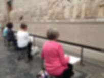 Drawing class at the British Museum