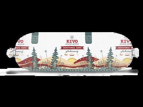 Kivo Petfood houdbare worst gestoomde eend 12 rollen  (per worst 600 gram