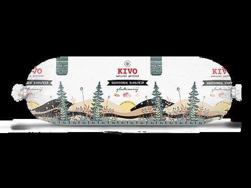 Kivo Petfood houdbare worst gestoomde kip & rund 12 rollen  (per worst 600 gram)