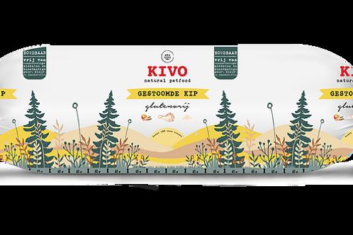 Kivo Petfood houdbare worst gestoomde kip 12 rollen  (per worst 600 gram)
